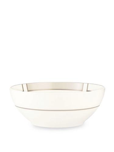 Noritake Everyday Elegance Trieste Large Round Bowl (White/Taupe)