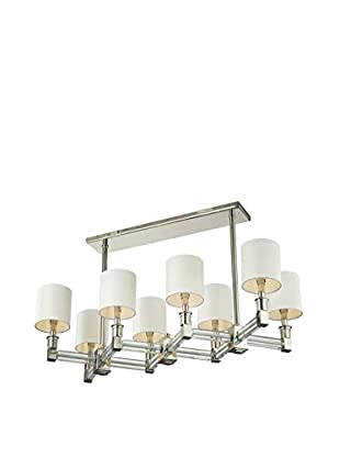Artistic Lighting Pendant, Polished Nickel/Clear