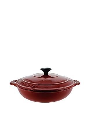 Chasseur Classique Red 1.8-Qt. Cast Iron Braiser with a Lid