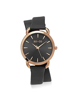 SO & CO New York Women's 5086.3 SoHo Analog Display Quartz Grey Watch