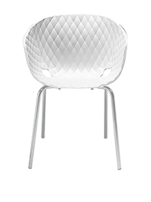 Metalmobil Stuhl 2er Set Unika-594 weiß