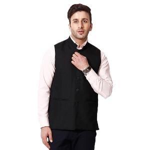 RPB Men's Nehru Jacket - Black