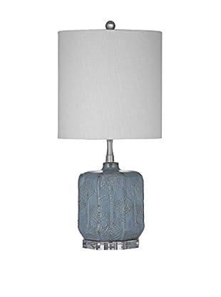 Bassett Mirror Company Vega Table Lamp, Light Blue