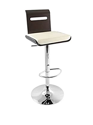 LumiSource Viera Bar Stool, Wenge/Cream
