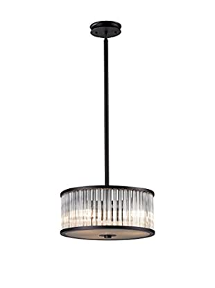 Artistic Lighting Braxton 3-Light Pendant with Glass Shade, Aged Bronze