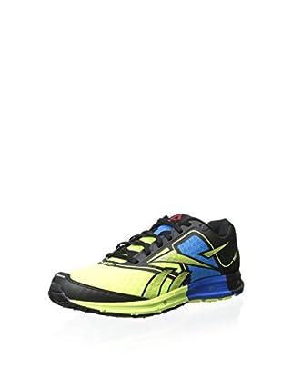 Reebok Men's Reebok One Cushion Sneaker (Black/Neon Yellow/Risk Blue)
