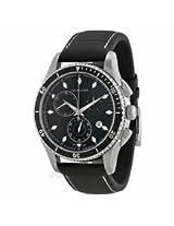 Hamilton Jazzmaster Seaview Chronograph Black Dial Black Leather Mens Watch H37512731