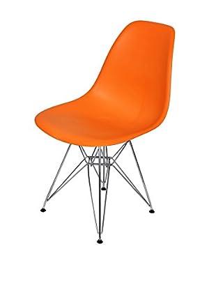 Stilnovo Mid-Century Eiffel Dining Chair, Orange