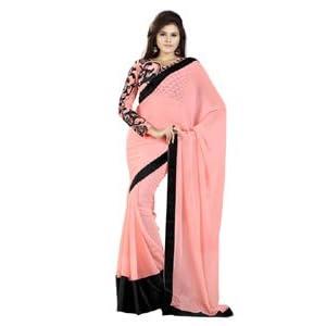 Sonam Kapoor net saree with black plain border