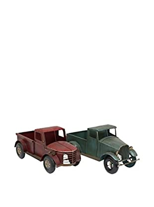 Three Hands Set of 2 Metal Decorative Trucks