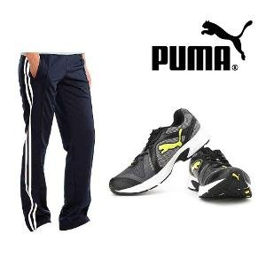 Puma Kuris - Black and Lime Shoes With Track Pants
