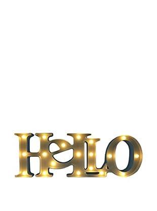 LO+DEMODA Leuchtbild LED Hello weiß