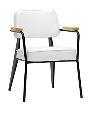 Baxton Studio Lassiter Mid-Century Accent Chair, White