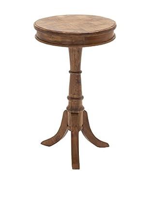 Wood Pedestal Table, Brown