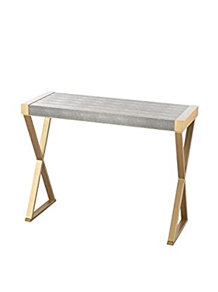 Artistic Sands Point Shagreen Console Table, Gold/Grey