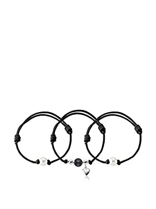 Manufacture Royale des Perles du Pacifique Armband-Set 22 cm rhodiniertes Silber 925