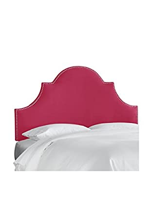 Skyline Furniture Queen Nail Button High Arch Notched Headboard, Regal Sangria