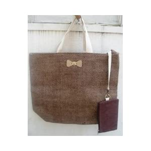 Cute Jute Brown Weave Shopper