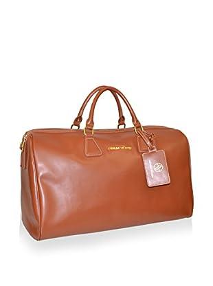 Adrienne Vittadini Faux Leather 20'' Duffle, Cognac