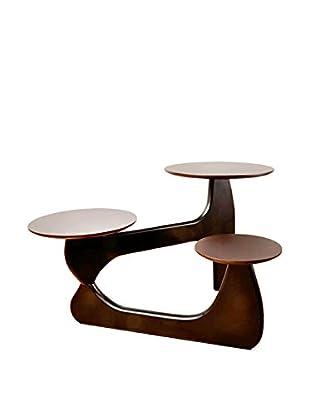 Manhattan Living 3-Tiered Coffee Table, Dark Walnut