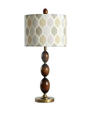 StyleCraft Art Deco 1-Light Table Lamp, Multi