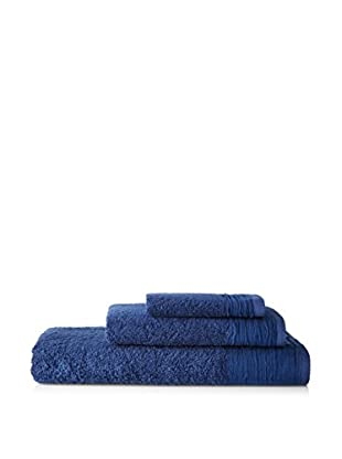 Nine Space Pleated Cotton Towel Set, Marine Blue