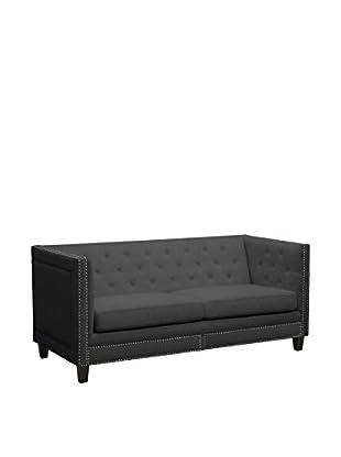 Baxton Studio Parkis Button Tufted Sofa, Grey
