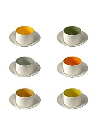 COVO Kaffeetasse mit Untertasse 6er Set