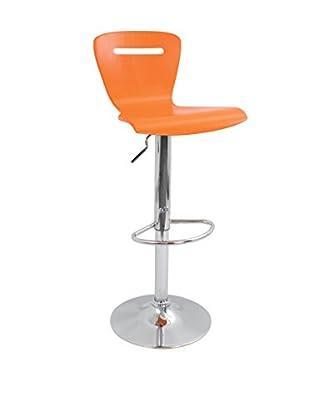 LumiSource H2 Bar Stool, Orange