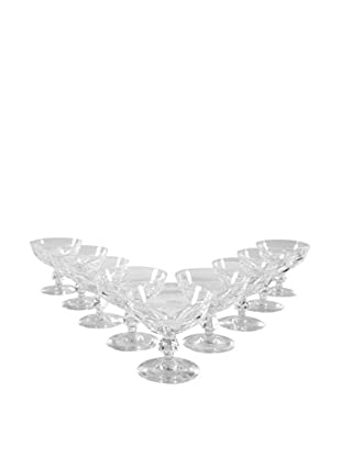 Set of 9 French Coupe Champagne Glasses, Clear