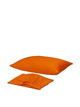 Homemania Betttuch und Kissenbezug orange 150 x 240 cm