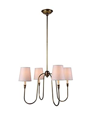 Urban Lights Lancaster 4-Light Pendant Lamp, Antique Bronze