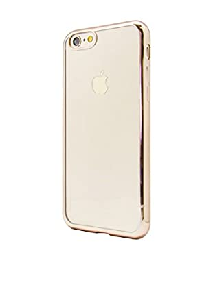 UNOTEC Funda TPU Gel iPhone 7 Color Frame Dorado
