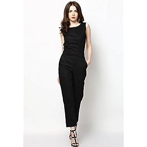 Black Solid Jumpsuit