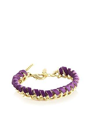 Ettika Purple & 18K Gold-Plated Royal Voyage Bracelet