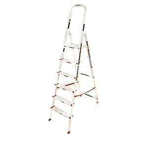 Eurostar 106 Aluminium 5-Step + Platform Ladder (Silver)