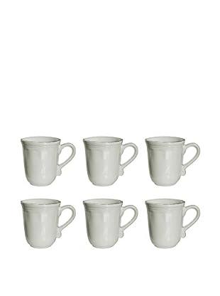 10 Strawberry Street Set of 6 Oxford Mug, Cream