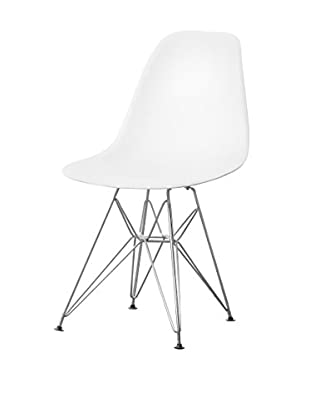 Manhattan Living Wire Leg Dining Side Chair, White