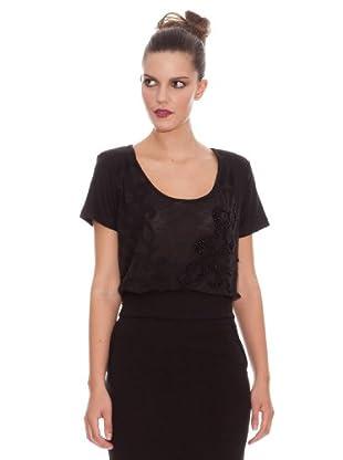 Ikks Camiseta Bordado (negro)