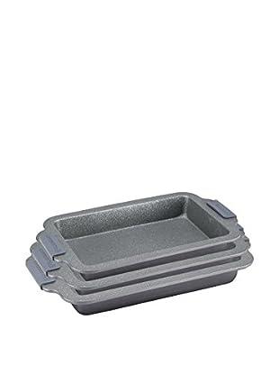 Blaumann Set Bandeja 3 Piezas Grey Granit Line