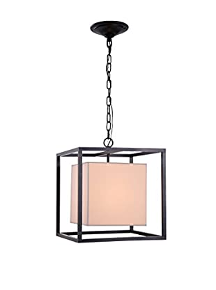 Urban Lights Quincy 1-Light Pendant Lamp, Antique Bronze