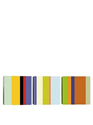iCanvasArt For The Love of Color Panoramic Giclée Triptych