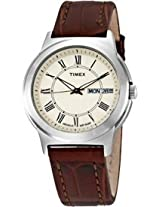 Timex Mens T2E581 Classic Brown Leather Strap Watch