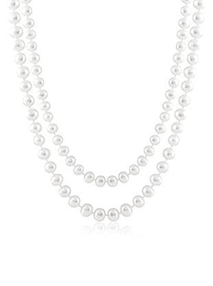 Splendid 7.5-8mm White Pearl Endless Necklace