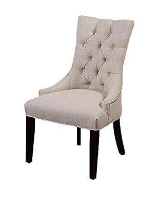 Bassett Mirror Company Fortnum Tufted Nailhead Parsons Chair, Script