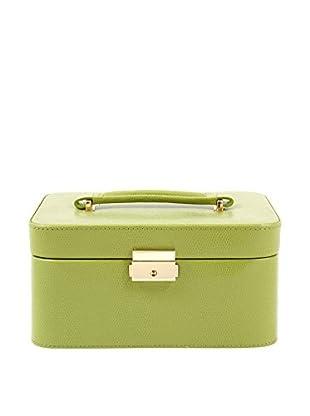 Bey-Berk Lime Lizard Leather Jewelry Box