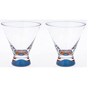 【クリックでお店のこの商品のページへ】DANSK スペクトラ ペア カクテルグラス (ブルー×2個セット) 507090: ホーム&キッチン