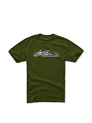 Alpinestars Camiseta Printed Short (Verde Militar)