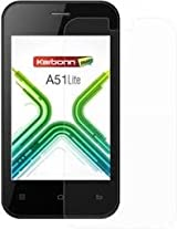 Snoogg karbonn-A51 screen guardHigh screen protector film High Definition (HD) Ultra Clear (invisible) - Lifetime Replacement Warranty + Cleaning Cloth