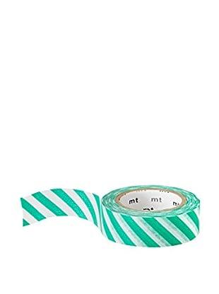 mt Masking Tape Striped Decorative Tape, Green/White, 32.8 ft.